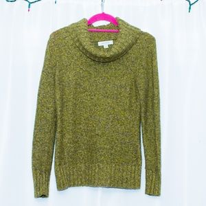 Merona green cowl neck sweater S